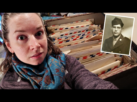 INSANE FAMILY HISTORY FIND! READING WWII LETTERS WITH GRANDP
