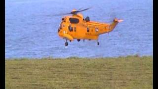 Dramatic Cliff Top Rescue by RAF Air Sea Helicopter