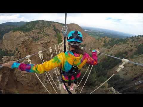 Zip lining in Colorado! (Broadmoor Soaring Adventure in Colorado Springs, CO)
