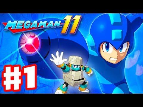 Mega Man 11 - Gameplay Walkthrough Part 1 - Intro And Block Man Stage! (PC)