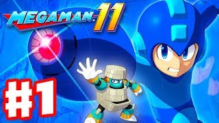 Mega Man 11 - Gameplay Walkthrough Part 1 - Intro and Block Man Stage! (PC)