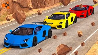 Beamng drive -  Rock Slide Accidents #1