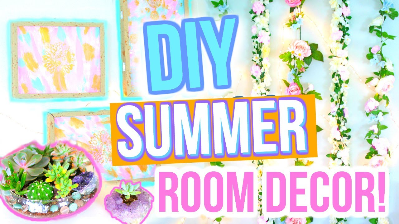 Diy summer room decor easy diy room ideas youtube for 5 diy summer room decor ideas