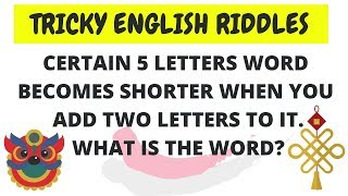 English #Riddles with answers