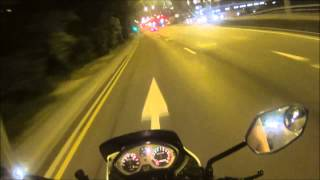 SONY AS15 Motorcycle Night test (Angle of View 120° , SteadyShot on) 720P