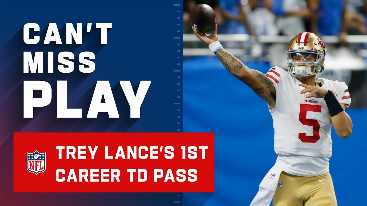 QB Trey Lance enters game for 49ers, immediately throws ...