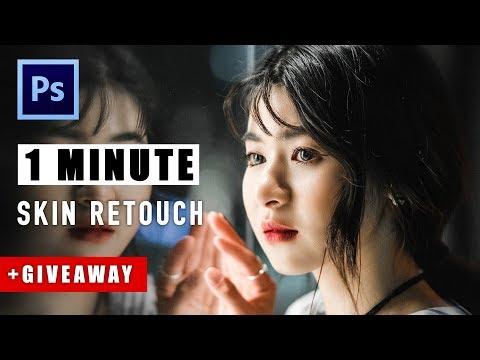 1 PHÚT LÀM MỊN DA TRONG PHOTOSHOP + GIVEAWAY | 1 Minute Skin Retouch