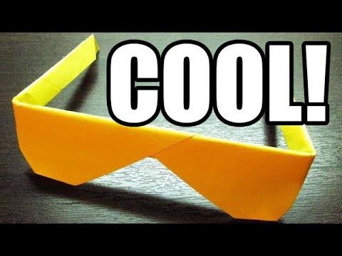 Como hacer unos Espectaculares LENTES DE PAPEL Super Cool   Origami de papel (Muy fácil)