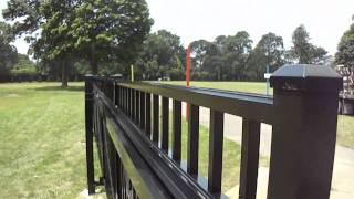 25' Ft. Wide Cantilever Gate | Sunrise Custom Fence Inc