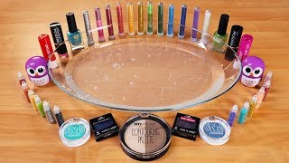 Mixing Makeup, Glitter and Mini Glitter Into Clear Slime ! MOST SATISFYING SLIME VIDEO ! Part 4