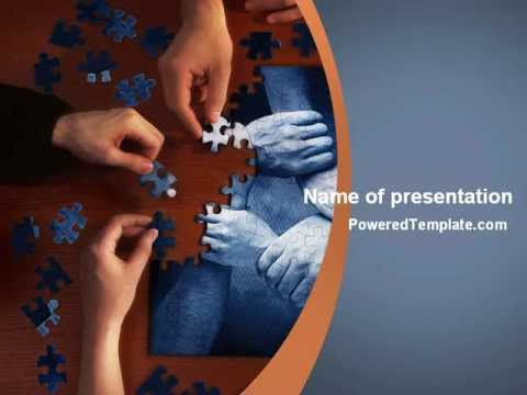 Team Building Puzzle Powerpoint Template By Poweredtemplate