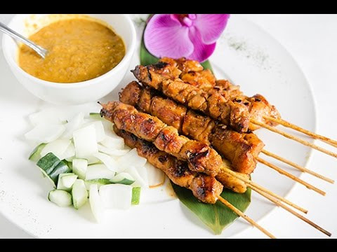 How To Make Malaysian Chicken Satay Grilled Chicken Skewers Recipe