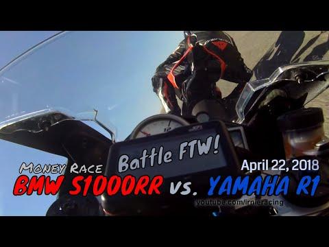 """BMW S1000RR vs. Yamaha R1"" Battle FTW! | Irnieracing Money Race 2018"