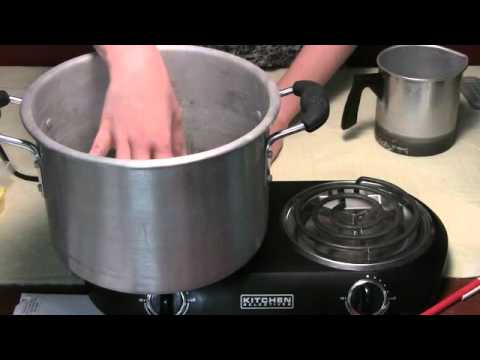 How to Melt Wax for Homemade Candle Making - YouTube