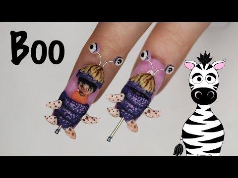 4D Boo From Monsters Inc Acrylic Nail Art Tutorial thumbnail