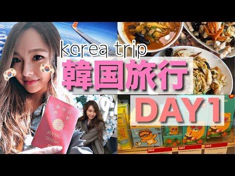 【韓国旅行】3泊4日🇰🇷予定詰め込み女子旅♥️✈💭【1日目】