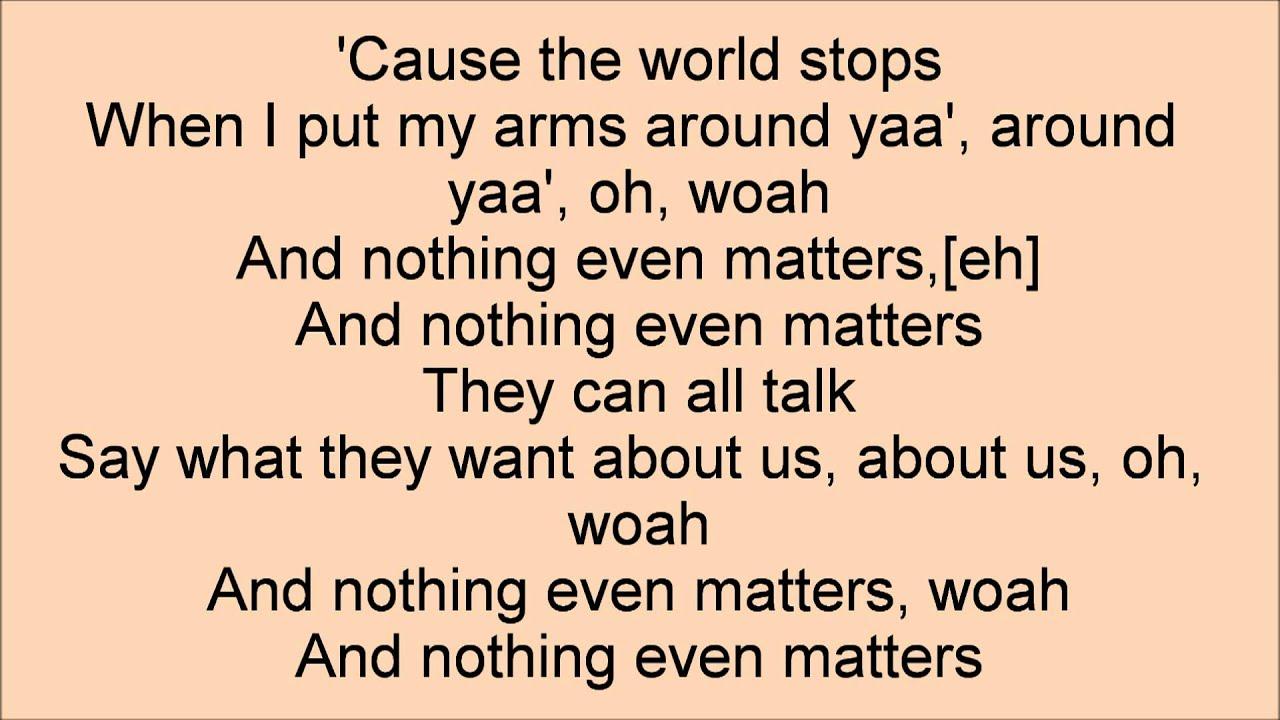 Nothing Even Matters - Big Time Rush Lyrics - YouTube