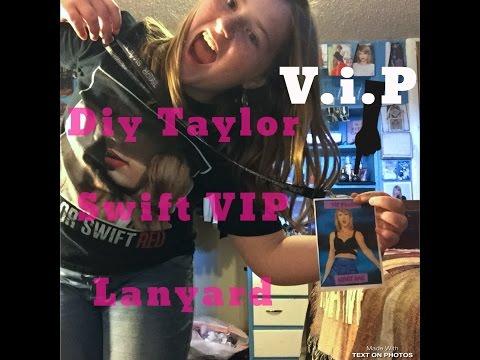 DIY Taylor Swift V.I.P Pass