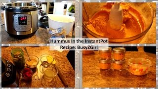 Hummus Started In The Instant Pot