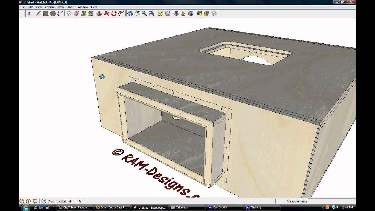 ram designs triple 15 bandpass blow through box design with plexi youtube