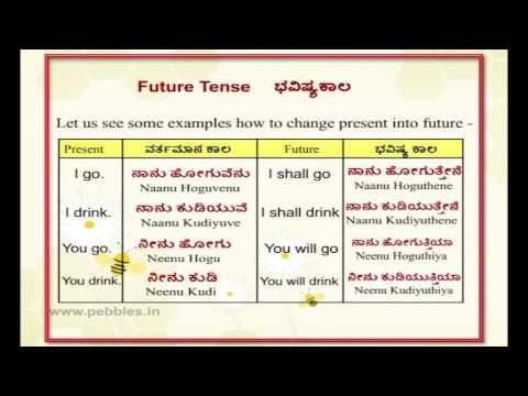 Learn kannada Through English - Lesson 15- spoken kannada - Future Tense