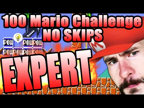 STRESS LEVEL MAXIMUM ~ Super Mario Maker [100 MARIO EXPERT NO SKIP]