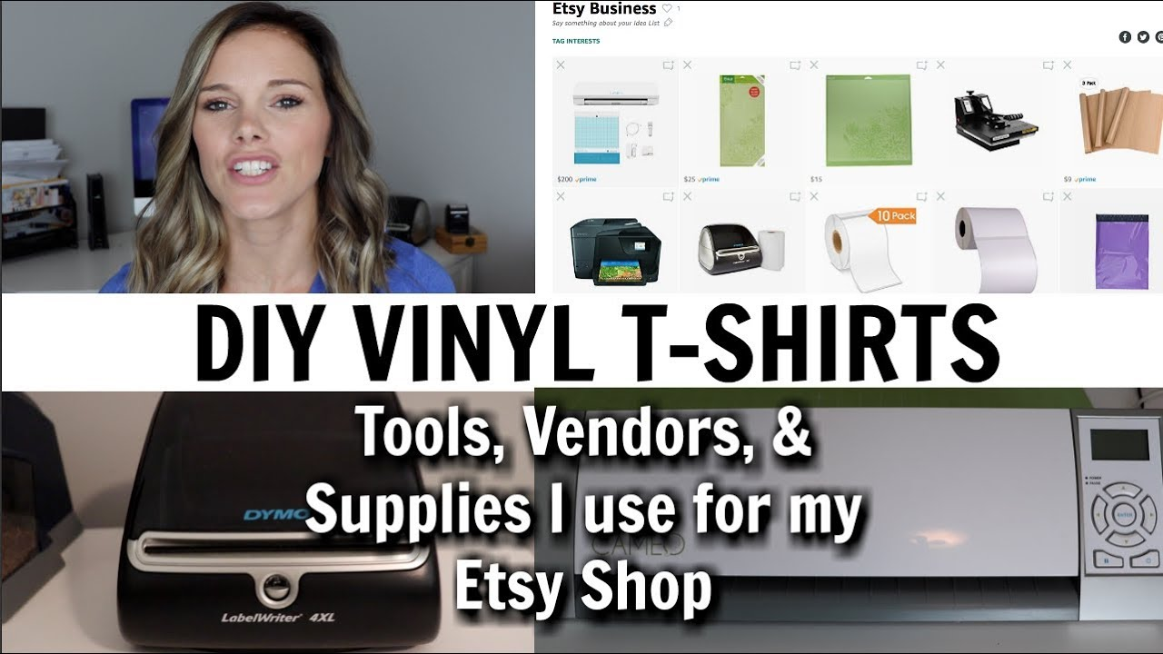 cf6fab9dc1f87 SELLING VINYL T-SHIRTS ON ETSY // VENDORS, SUPPLIES NEEDED, HOW IT WORKS //  ETSY SHOP