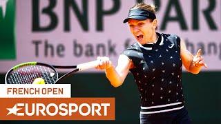 Simona Halep vs Amanda Anisimova Highlights | Roland Garros 2019 Quarter-Final | Eurosport