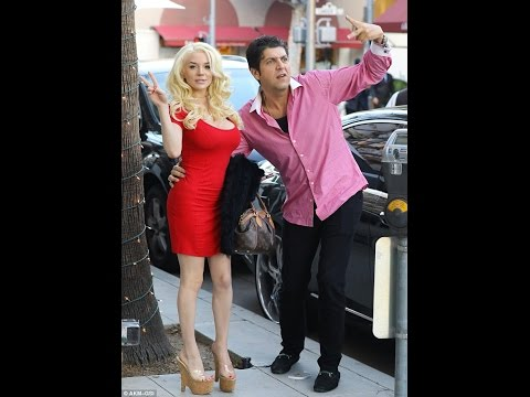 Lady red Courtney Stodden dons mini dress lunch mystery man Beverly Hills