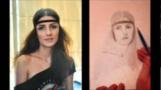 "Speed drawing example2 (How to draw from photo) - 2011 ""Gabriela"""