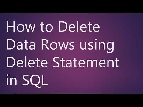 Learn How To Delete Data Rows Using Delete Statement In SQL