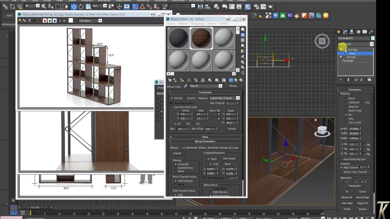 Delany display shelf 3d modeling in 3dsmax