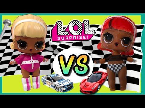 LOL surprise DOLL series 4 Eye Spy Under Wraps Drag Racer  Color Changer
