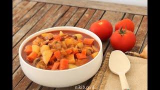 עוף עם ירקות בסיר - תבשיל מושלם של עוף עם ירקות ברוטב נפלא