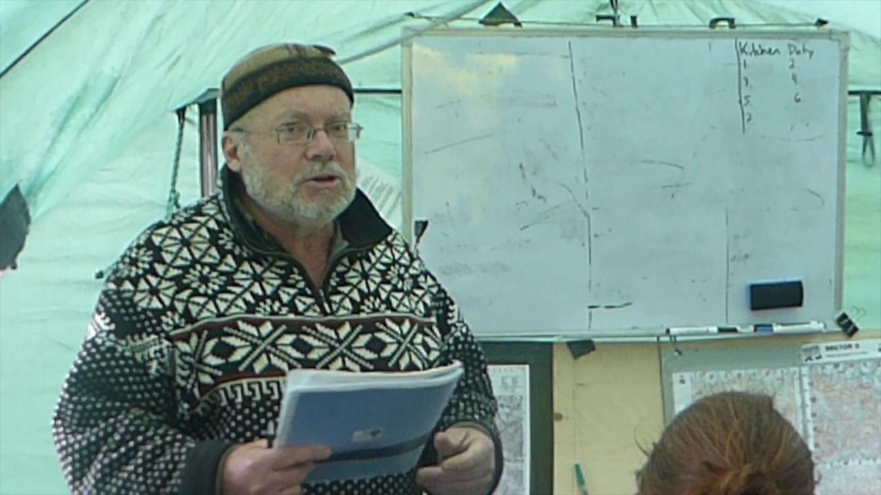 Wildlife biologist Volodymyr Tytar talking about snow leopards
