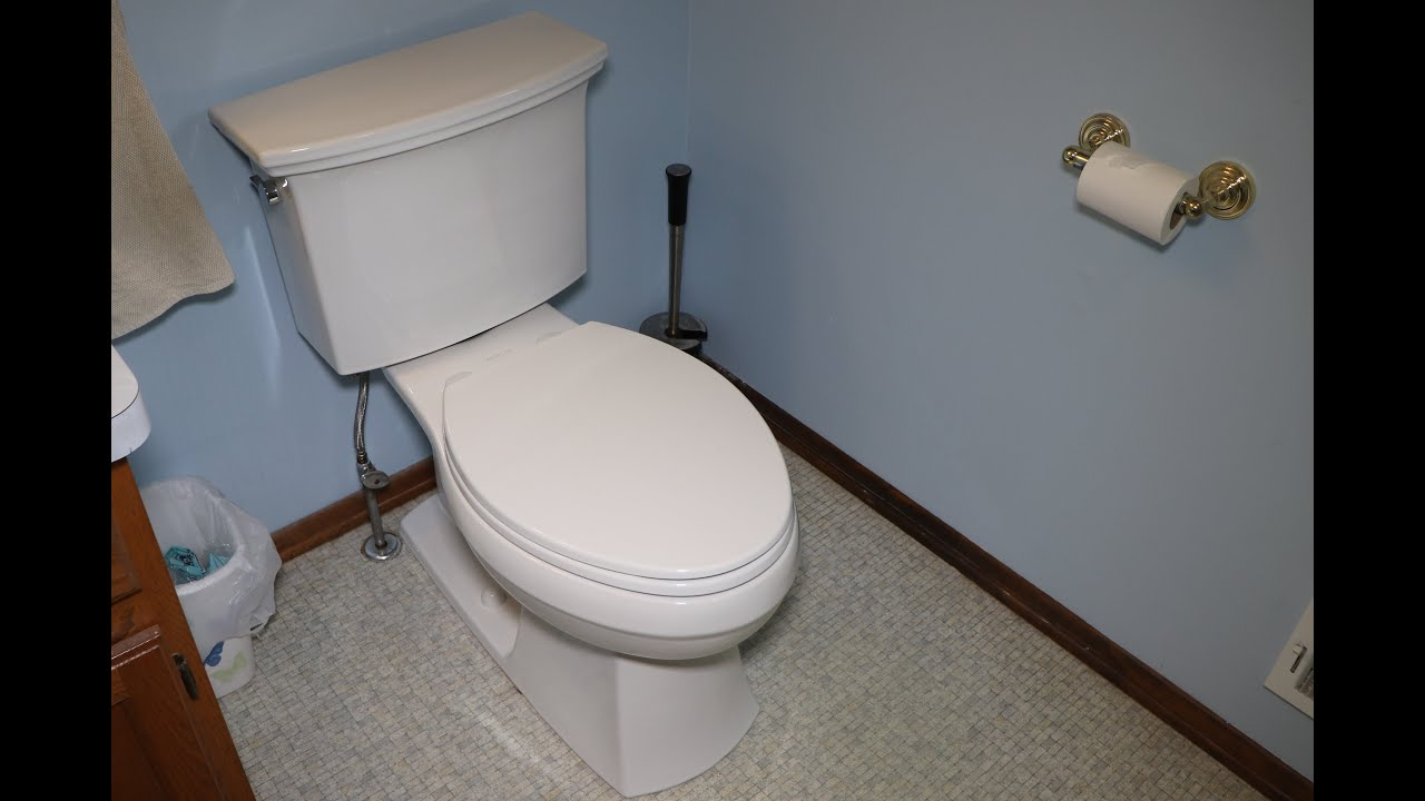 Installing A Kohler Lintelle 1 28 Gpf Toilet Kit From
