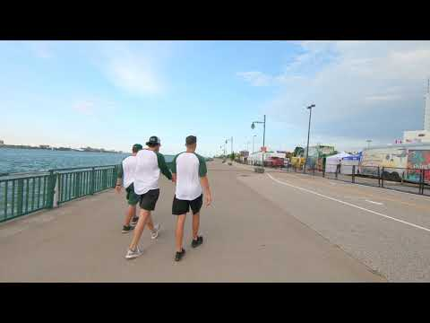 Canada Windsor River Walk   4k   No Music