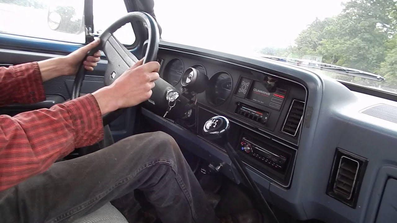 Taking a Ride in the First Gen Dodge Cummins with stacks ...