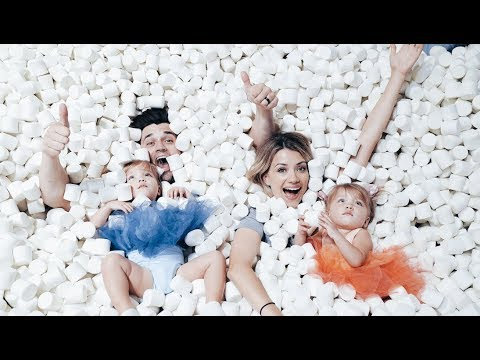 HUGE MARSHMALLOW SWIMMING POOL w/ BABIES