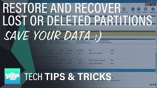 Restore And Recover Lost Partition That Are Lost Or Deleted - Fix Drive Not Showing Up In Windows