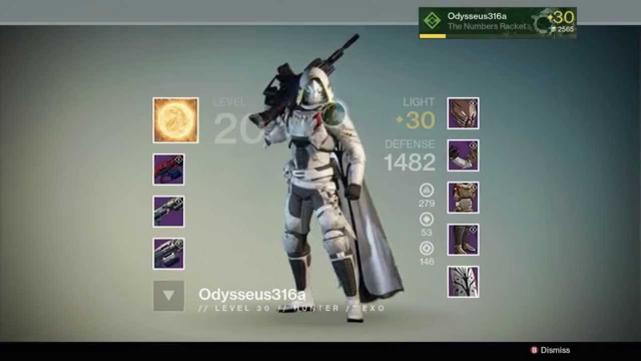 DESTINY DLC HUNTER FULL 32 RAID GEAR