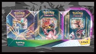Opening A Gyarados Tin From a Pokemon Tin 3 Pack! Pokemon TCG