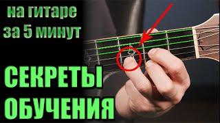 Как научиться играть на гитаре ЗА 5 МИНУТ - урок для начинающих: аккорды, бой
