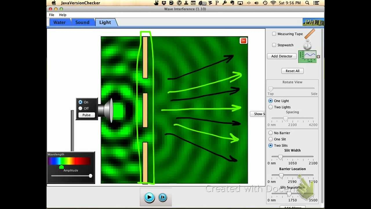 Wave Interference using the PhET Simulation