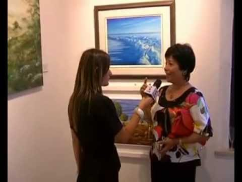 TV interview with Mona Youssef-Chianciano Biennale 2009-Italy