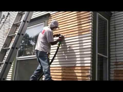 Elite Decorating & Remodeling- How to remove old paint from wood siding