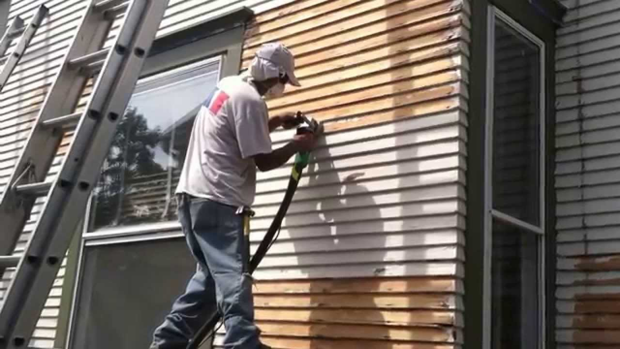 remodeling how to remove old paint from wood siding youtube. Black Bedroom Furniture Sets. Home Design Ideas