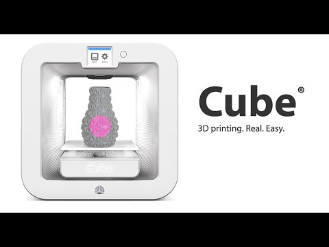3D Systems Cube 3rd Generation Unboxing & Initial Setup