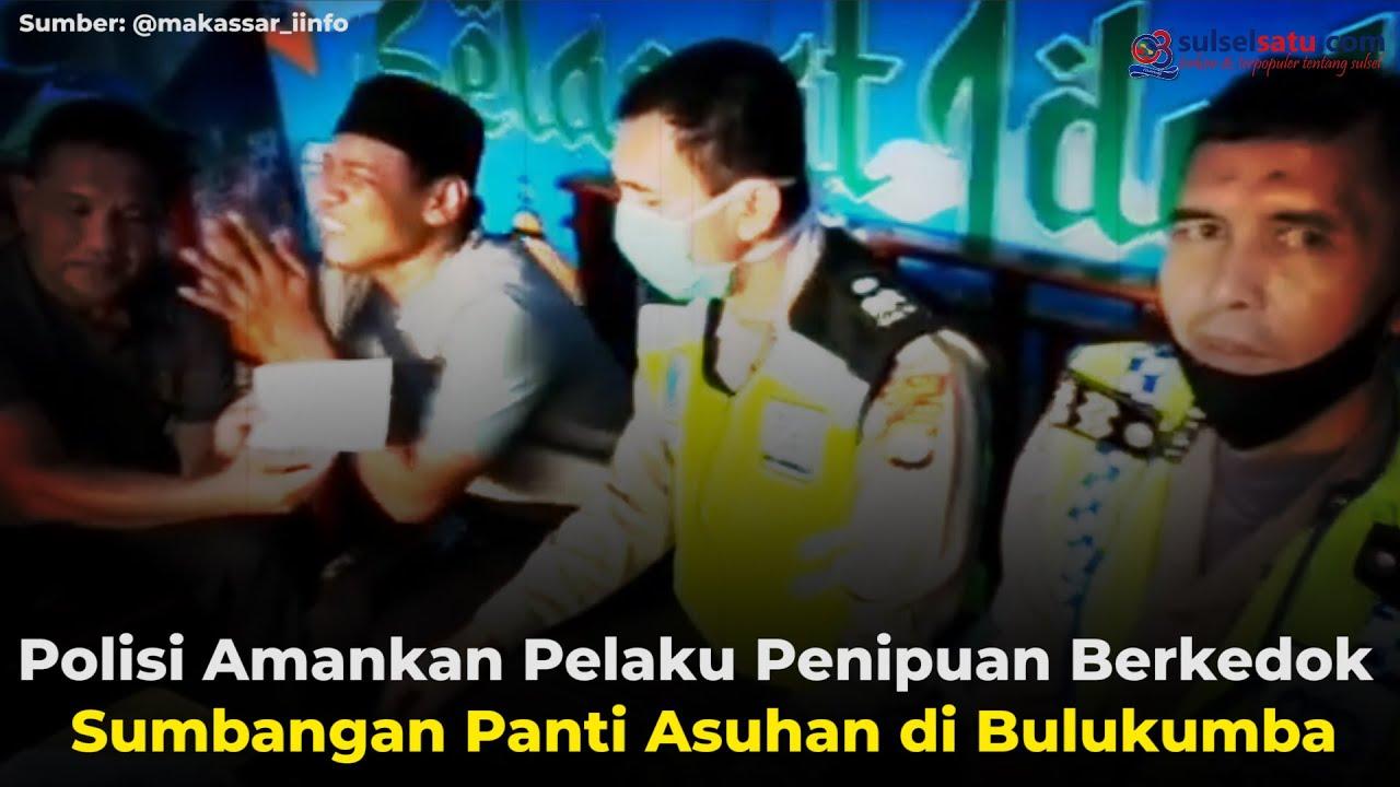 Video Polisi Amankan Pelaku Penipuan Berkedok Sumbangan Panti