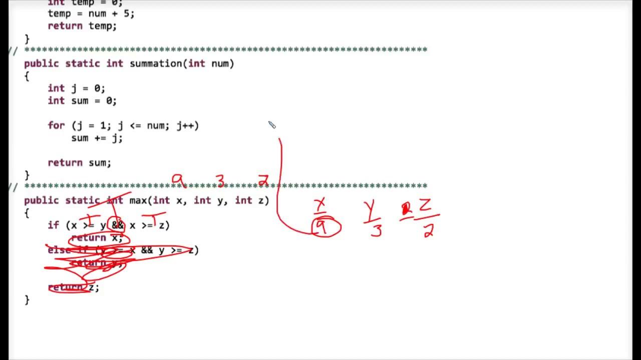 worksheet Worksheet Methods java tracing static methods worksheet 1 youtube 1